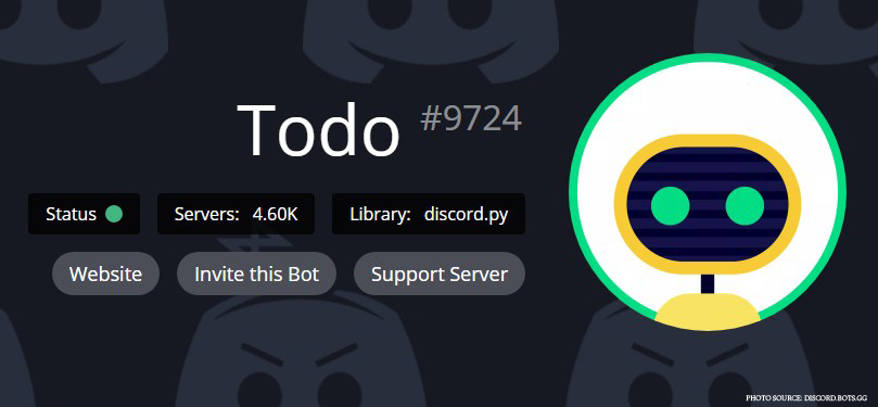 Todo bot for Discord - Best project management tools for Discord - Scrum bot Daily Meetings