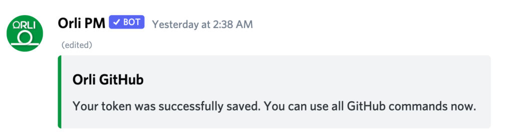 GitHub Discord Integration with Orli Daily Standup bot for Daily Meeting